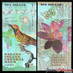 FAUNUS ISLAND - Billet de 1 DOLLAR - Oiseau Tropical - 2020 0001