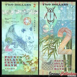 FAUNUS ISLAND - Billet de 2 DOLLARS - PANDA - 2020 0002