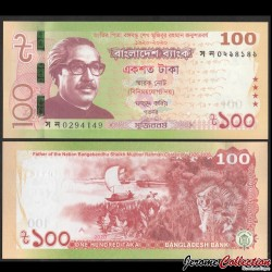 BANGLADESH - Billet de 100 Taka - Centenaire de Sheikh Mujibur Rahman - 2020 P66a
