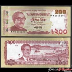 BANGLADESH - Billet de 200 Taka - Centenaire de Sheikh Mujibur Rahman - 2020 P67a