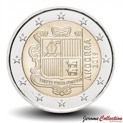 ANDORRE - PIECE de 2 Euro - Armoiries - 2019 Km#527
