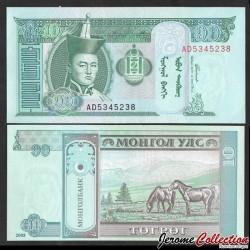 MONGOLIE - Billet de 10 Tögrög - Chevaux - 2005 P62c