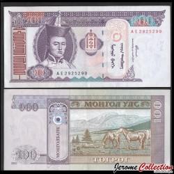 MONGOLIE - Billet de 100 Tögrög - Chevaux - 2000 P65a