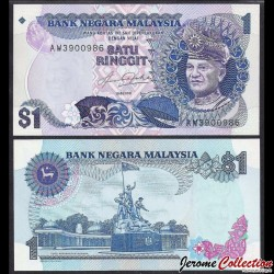MALAISIE - Billet de 1 Ringgit - Monument national - 1982
