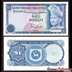 MALAISIE - Billet de 1 Ringgit - Roi Tuanku Abdul Rahman - 1976 P13a