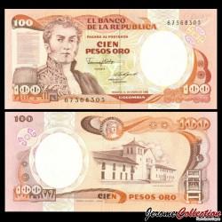 COLOMBIE - Billet de 100 Pesos Oro - 10.1.1986 P426b2