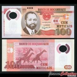 MOZAMBIQUE - Billet de 100 Meticais - Polymer - Girafes - 2017 P151b