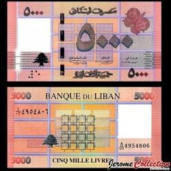 LIBAN - Billet de 5000 Livres - 2014 P91b