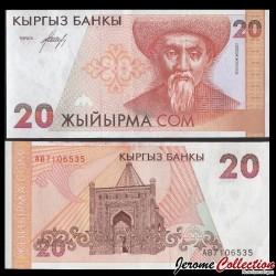 KIRGHIZISTAN - Billet de 20 Som - Togolok Moldo - 1994 P10a