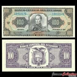 EQUATEUR - Billet de 100 Sucres - Simón Bolívar - 20.08.1993 P123Ab.5