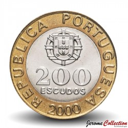 PORTUGAL - PIECE de 200 Escudos - Bimétal -Garcia de Orta - 2000