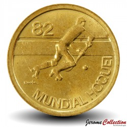 PORTUGAL - PIECE de 1 Escudo - Mondial de hockey en roller - 1982 Km#612