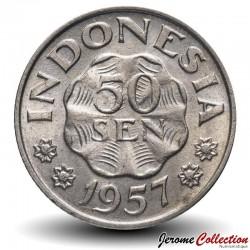 INDONESIE - PIECE de 50 Sen - Pangeran Diponegoro - 1957