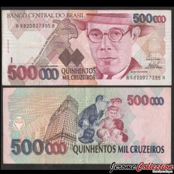 BRESIL - Billet de 50000 Cruzeiros - Mário Raúl de Morais Andrade - 1993 P236c