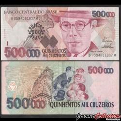 BRESIL - Billet de 500 Cruzeiros Reais - Mário Raúl de Morais Andrade - 1994 P239b