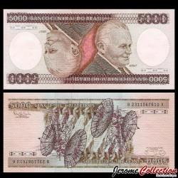 BRESIL - Billet de 5000 Cruzeiros - Humberto Castello Branco - 1985 P202d