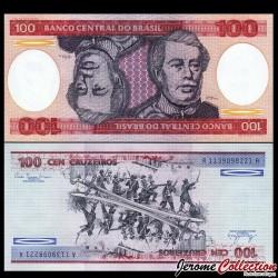 BRESIL - Billet de 100 Cruzeiros - 1981 P198a