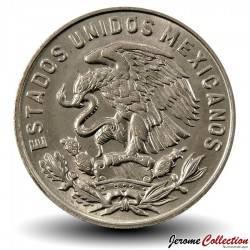 MEXIQUE - PIECE de 50 Centavos - Homme paré de cinq plumes - 1970