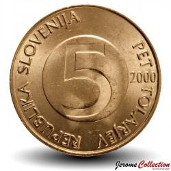 SLOVENIE - PIECE de 5 Tolarjev - Bouquetin - 2000