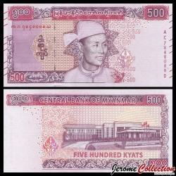 MYANMAR (ex-Birmanie) - Billet de 500 Kyats - Général Aung San - 2020 P86a