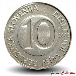SLOVENIE - PIECE de 10 Tolarjev - Cheval cabré - 2002