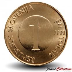 SLOVENIE - PIECE de 1 Tolar - Truite brune - 2001