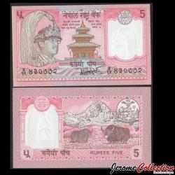 NEPAL - Billet de 5 Roupies - 2 Yachs - 2000 P30a(6)