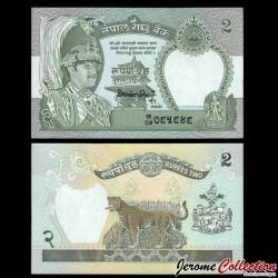 NEPAL - Billet de 2 Roupies - Léopard - 1990