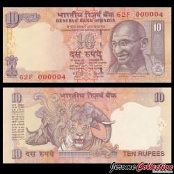 INDE - Billet de 10 Roupies - Mahatma Gandhi - 2006 P95c - Lettre R