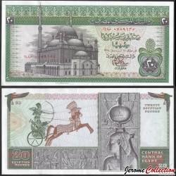 EGYPTE - Billet de 20 Pounds - Char de guerre, statue de la déesse Isis - 1978 P48a24