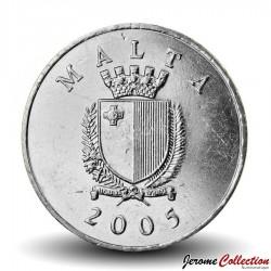 MALTE - PIECE de 1 LIRA - Grive bleue - 2005