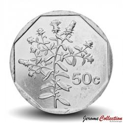 MALTE - PIECE de 50 Cents - Plante Tulliera - 2005 Km#98