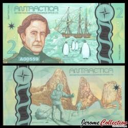 ANTARCTICA - Billet de 2 Dollars - Charles Wilkes - Polymer - 2020 0002-2020