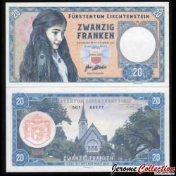 LIECHTENSTEIN - Billet de 20 Franken - Église de Balzers - 2020 0020 - Gabris - D01