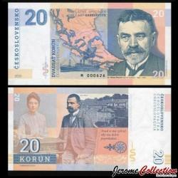 TCHECOSLOVAQUIE - Billet de 20 Korun - Martin Kukučín - 2020 Kukučín 20 - Gabris - M