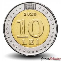 MOLDAVIE - PIECE de 10 Lei - 30e anniversaire de l'adoption du drapeau national - 2020