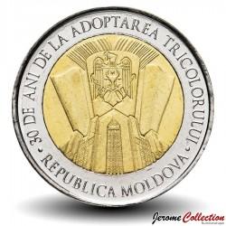 MOLDAVIE - PIECE de 10 Lei - 30e anniversaire de l'adoption du drapeau national - 2020 Km#new