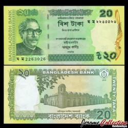 BANGLADESH - Billet de 20 Taka - 2019 P55Ah