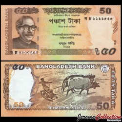BANGLADESH - Billet de 50 Taka - 2019 P56Aa