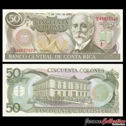 COSTA RICA - Billet de 50 Colones - Gaspar Ortuño y Ors - 07.07.1993 P257a.5