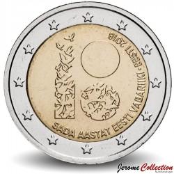 ESTONIE - PIECE de 2 Euro - Indépendance de l'Estonie - 2018 Km#new