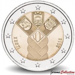 ESTONIE - PIECE de 2 Euro - Indépendance des Pays-baltes - 2018 Km#new