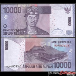 INDONESIE - Billet de 10000 Rupiah - Sultan Mahmud Badaruddun - 2016 P150h2