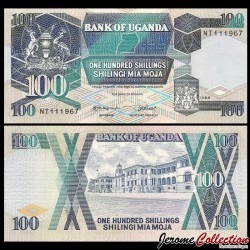 OUGANDA - Billet de 100 Shillings - 1988 P31b