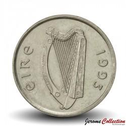 IRLANDE - PIECE de 5 Pence - Un taureau - 1993