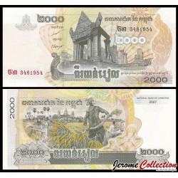 CAMBODGE - BILLET de 2000 Riels - 2007