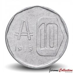 ARGENTINE - PIECE de 10 Australes - Casa del Acuerdo - 1989 Km#102