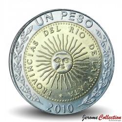 ARGENTINE - PIECE de 1 Peso - Bimétal - 2010 Km#112.1
