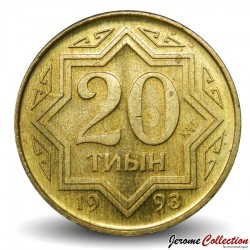 KAZAKHSTAN - PIECE de 20 Tyin - 1993 Km#4