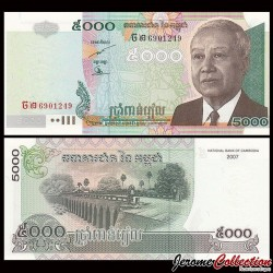 CAMBODGE - BILLET de 5000 Riels - 2007